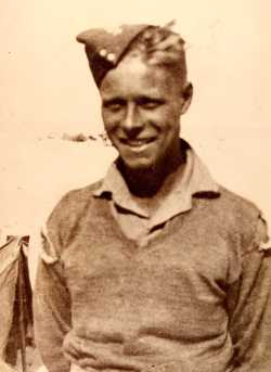Ted in the uniform of the Desert Army